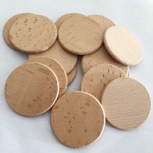 Image 1 - Rodajas de madera Natural 100 Uds., manualidades de madera de 1,96 pulgadas, Rodajas de madera redondas naturales, bricolaje para mesa de fiesta de cumpleaños, números, pintura con motivo de boda