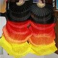 1,8 метр огонь цвет 4 цвета окрашенный 100% естественная чистый реальный шёлковый веер фату для Bellydancing