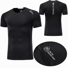 Summer Men Running T Shirts Gym Fitness Short Sleeve Shirt Workout Tops Quick Dry Bodybuilding Training Jersey Sports Top 2018