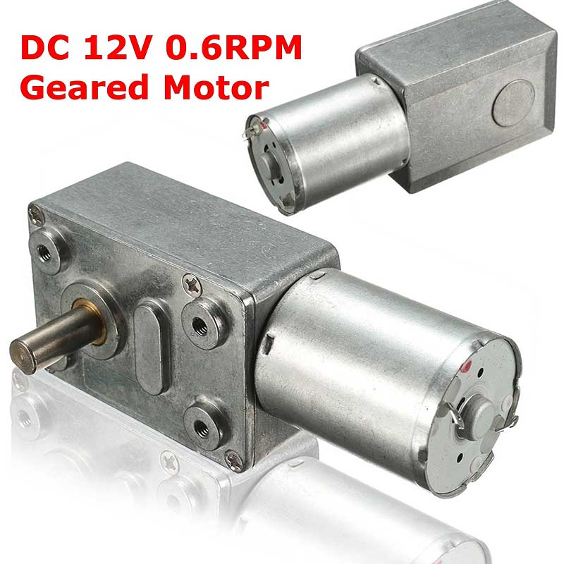 Low speed dc 12v 0 6rpm high torque turbo worm electric for Measuring electric motor torque