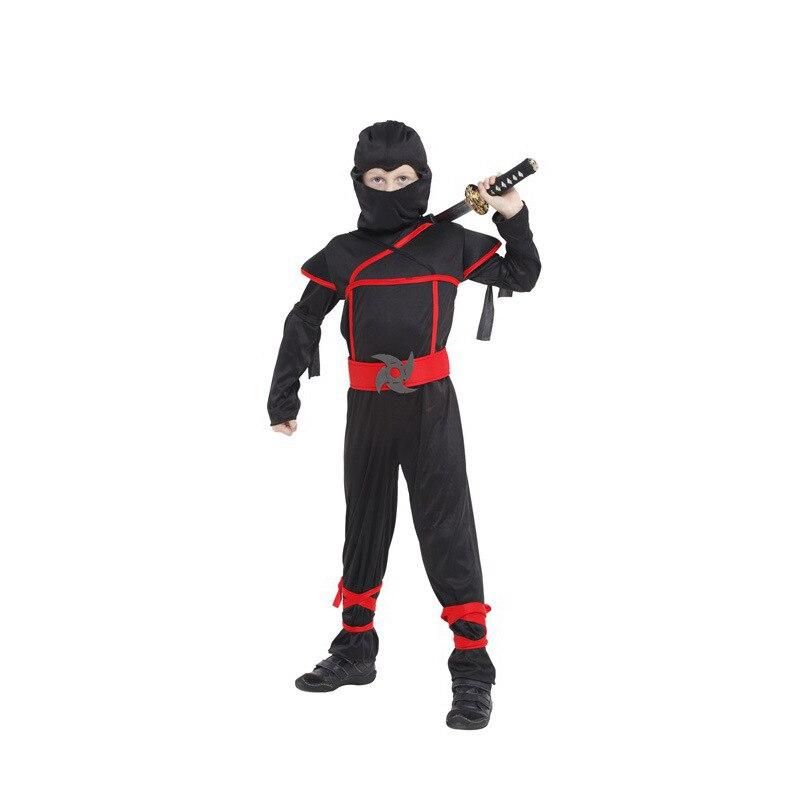 Ninja Boys girl Costume Child samurai warrior Anime Cosplay Kids Fancy dress for Carnival or Halloween party dressing up