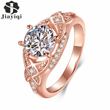 Fashion Top Quality Silver Plated Jewelry Rings for Women Luxury Bijouterie Cubic Zirconia Engagement Jewelry New Arrival 2017