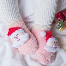 Cotton Winter Baby Girls Boys Kids Socks Children Elk Santa