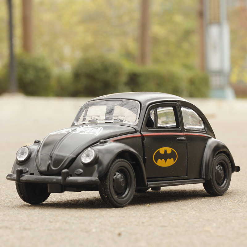 1:36 Toy Car Beetle Classic Alloy Diecast Car Model Toy Cartoon Vehicle Batman Toy Pull Back Car Toys For Children