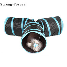 New Arrival Foldable Pet Cat Toys For Cat Tunnel with Ball new Style Pet Kitten Rabbit Funny Play 3 Way Tunnel Toys