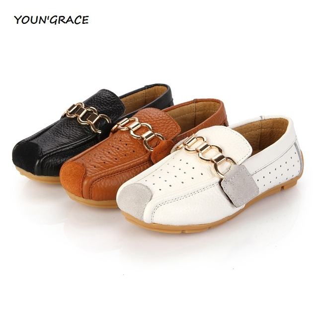 2015 New Design Children Genuine Leather Loafers for Girls European Style Gentle Boys Fashion Leather Loafers Kids Sneakers,S012