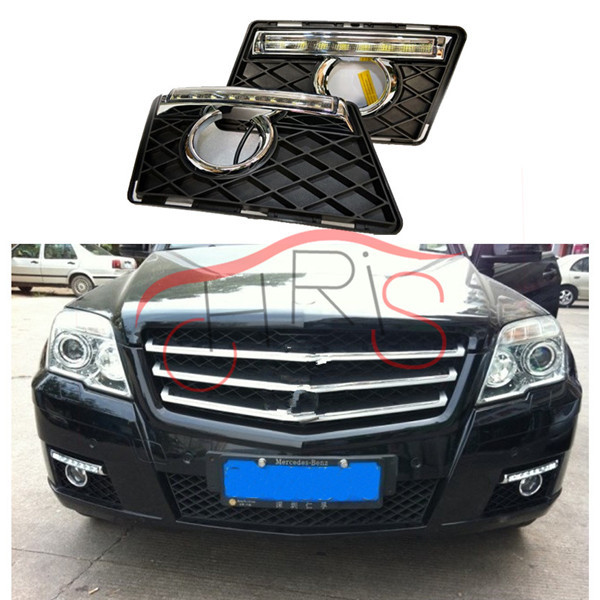 цена car styling LED Daytime Running Light For MERCEDES BENZ W204 GLK300 GLK350 GLK500 GLK CLASS 2008-2012 car styling led day light онлайн в 2017 году