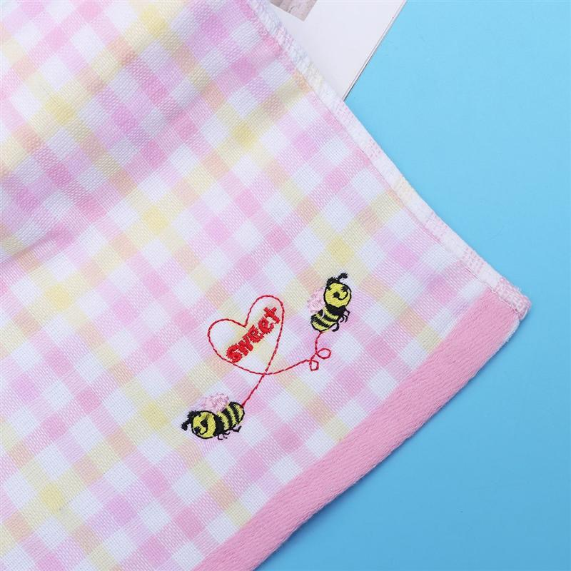 1 Pc Double Layer Wash Towel Bathroom Accessories Durable Bee Pattern Cotton Face Towel For Girls Embroidery Towel in Face Towels from Home Garden