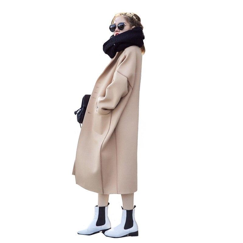 Femmes Plus Manches 2018 Light Tan Ioqrcjv Nouveau Mélangé F1 Confortable longueur Hiver Laine Longues camel Solide Automne Moyen De Cotton Survêtement Casual Pardessus Tops BwnOnq5H