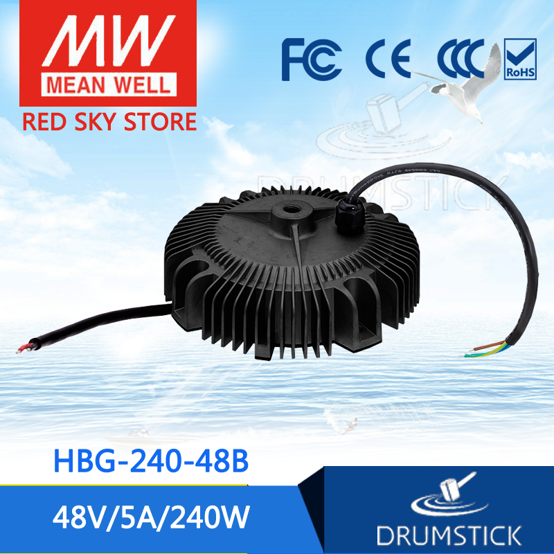 Selling Hot MEAN WELL HBG-240-48B 48V 5A meanwell HBG-240 48V 240W Single Output LED Driver Power Supply