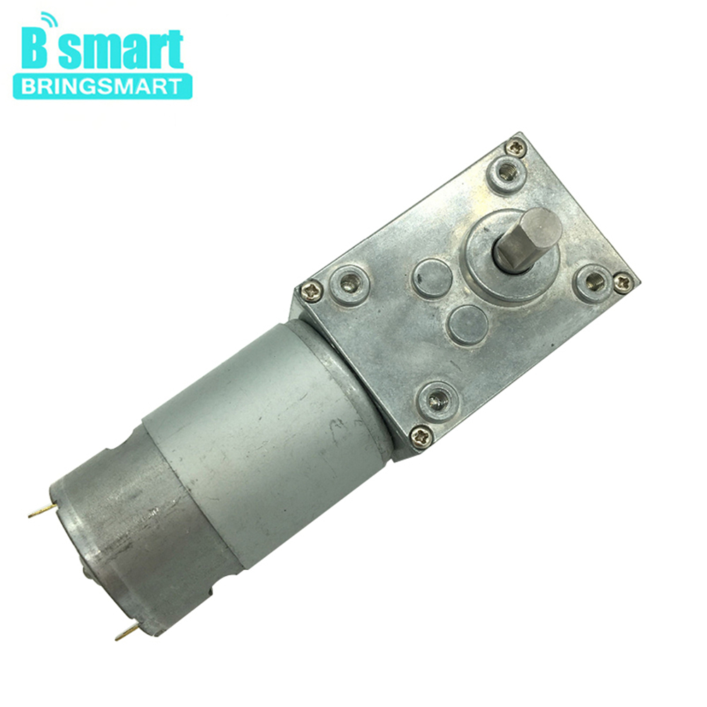 Bringsmart A58SW-555 Worm Gear Motor DC 24V 12V Motor High Torque 5-70kg.cm DIY Robot Rotating Table Door Lock Self-lock MotorBringsmart A58SW-555 Worm Gear Motor DC 24V 12V Motor High Torque 5-70kg.cm DIY Robot Rotating Table Door Lock Self-lock Motor