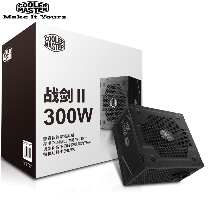 Cooler Master PC PSU Computer Power Supply Rated 300W 300 Watt 12cm Fan 12V ATX PC