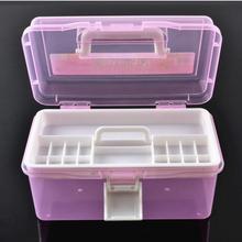 2 слоя многофункциональный чехол для хранения, профессиональная коробка для дизайна ногтей, маникюрный набор, инструмент для маникюра, коробка для макияжа, маленький размер для рисования, медицина