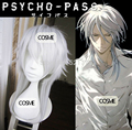 New Arrival Psycho Pass Shogo Makishima Long Layered Silver White Cosplay Wigs Shogo Halloween Wig Party Wigs Free Shipping