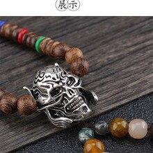 Retro wooden beads Buddha head sweater chain men and women p