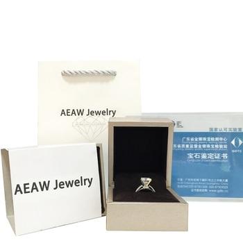 0.87Carat 6.5mm Rose Brilliant Cut DEF Color Moissanite Wedding Ring 18k White Gold For Women Fine Ring 6
