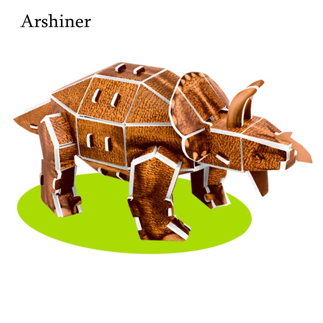 3D Model Educational years Children Assembly Dinosaur Unisex Picture Puzzle  Paper Cartoon old Toys