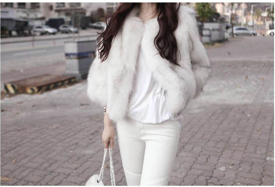 New True Black Natural Genuine Real Fox Fur Coat Women s Luxurious Fox Fur Jacket Winter