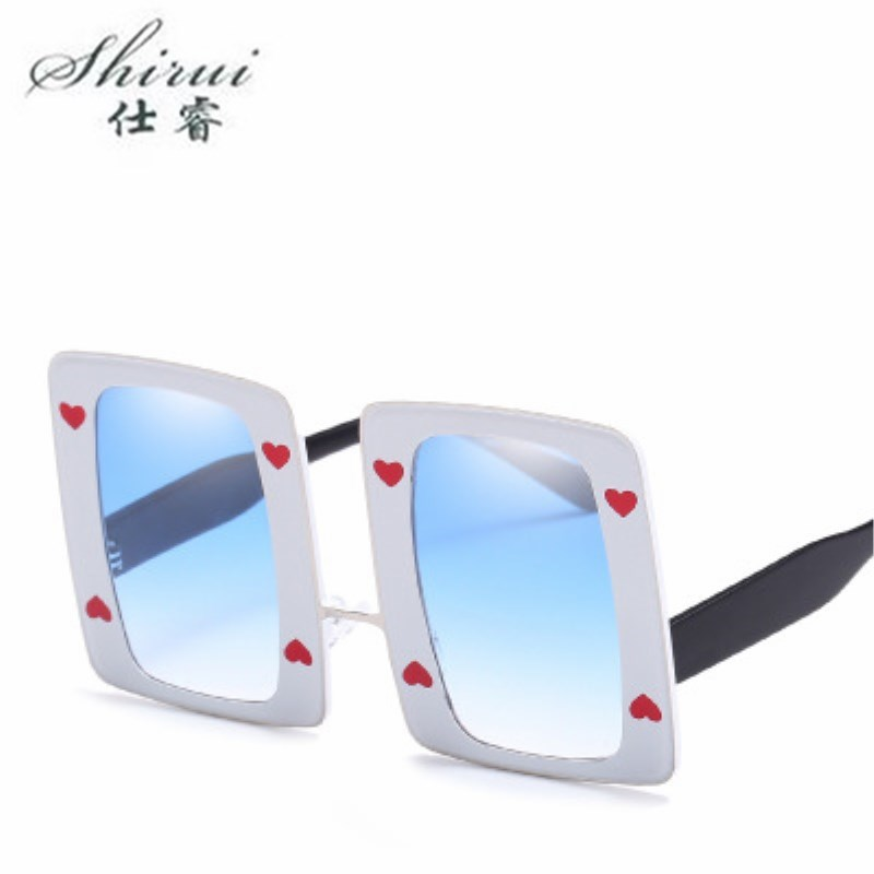 Oversized Square Sunglasses Men Women Flat Top Fashion One Piece Lens Sun Glasses for Women Brand Gradient UV Goggle in Women 39 s Sunglasses from Apparel Accessories
