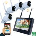 Tela de 10 polegadas LCD Monitor de 4CH 960 P NVR Gravador De Wi-fi Sem Fio À Prova de Intempéries de Segurança Com 4x960 P 1.3MP Câmeras Dome ao ar livre