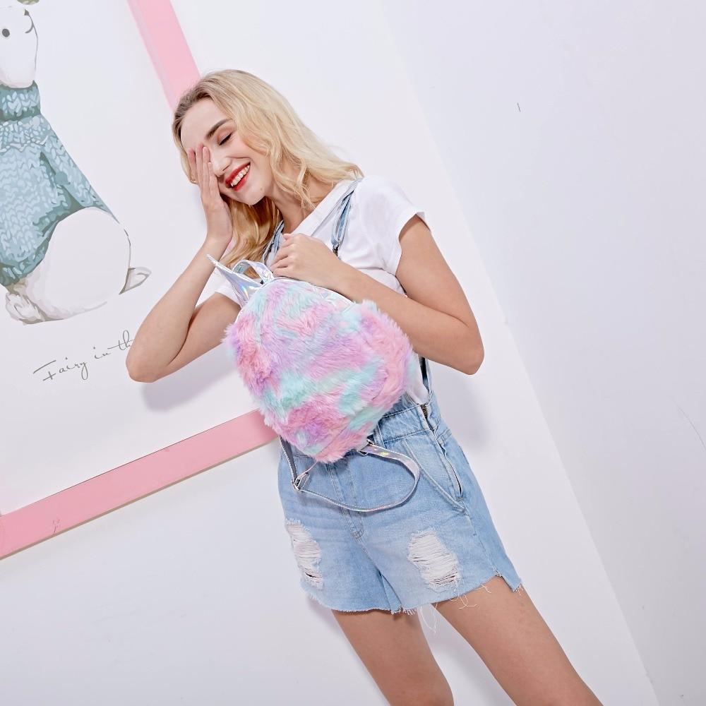 New-Hologram-Women-Leather-Backpacks-Unicorn-Cute-Backpacks-For-Girls-Mini-Travel-backpack-Female-Rucksack-Plush