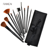 Professional 12pcs Makeup Brushes Set Black Powder Foundation Contour Blush Face Brush Cosmetics Beauty Tools With