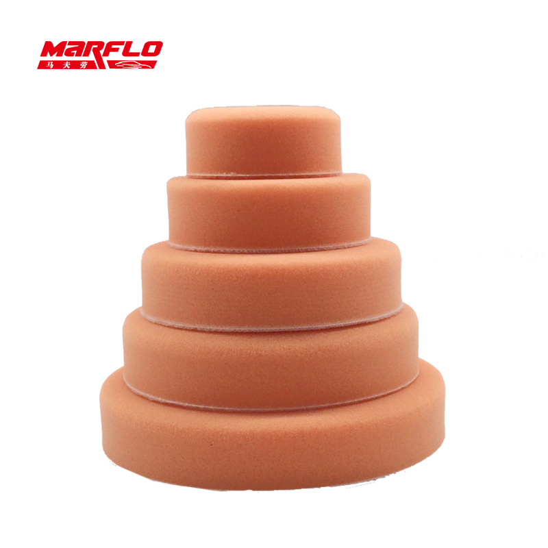 MARFLO Sponge Polishing Pad Dual Action Pad Sponge Buff Polish Pad Heavy Medium Fine Grade 180mm 150mm 125mm 100mm 80mm