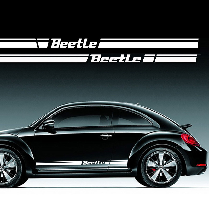 2pcs KK car side body sticker for VK Beetle 2013 to 2017