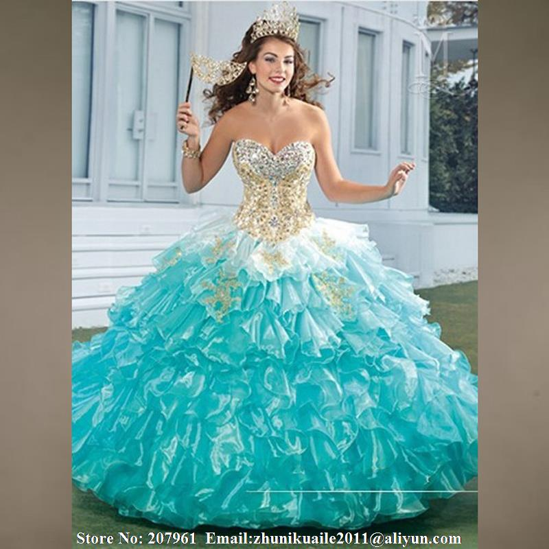 Aliexpress.com : Buy Turquoise Quinceanera dresses 2016 Sweetheart ...