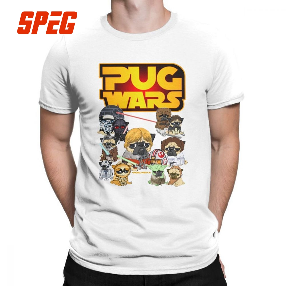 a84414d1 Pug Wars Star Wars Dog Mens T-Shirt 100% Cotton Round Collar T Shirts