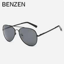 BENZEN Men Polarized Sunglasses  Vintage Sun Glasses Male Glasses For Driving  Eyewears  Oculos   Black With Case 9126