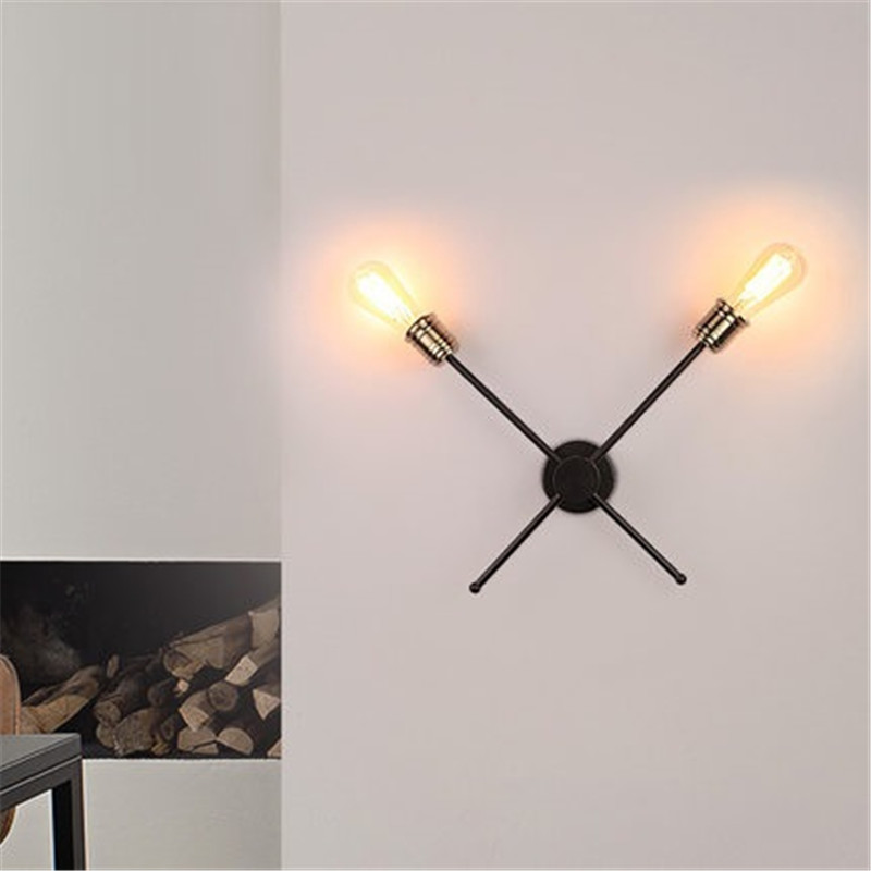 American country industrial retro working villa wall lamp staircase corridor restaurant wall wrought iron adjustable wall lamp