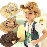 2018 Nouveaux Enfants De Mode Chapeau de Cowboy Enfants Adulte D'été Plage Floppy Sun Seau Chapeau tendance Garçon Fille Soleil Chapeau de Cowboy chapeau