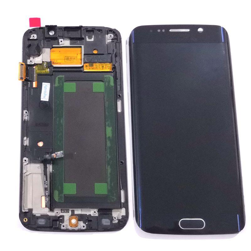 Amoled S6 edge lcd For font b Samsung b font Galaxy S6 Edge G925 G925F Lcd