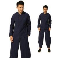 Tai Chi Kung Fu Youth Uniform Top Pants Macho Martial Arts Shaolin Chinese Karate for Men Women Boys Black Clothing Adult