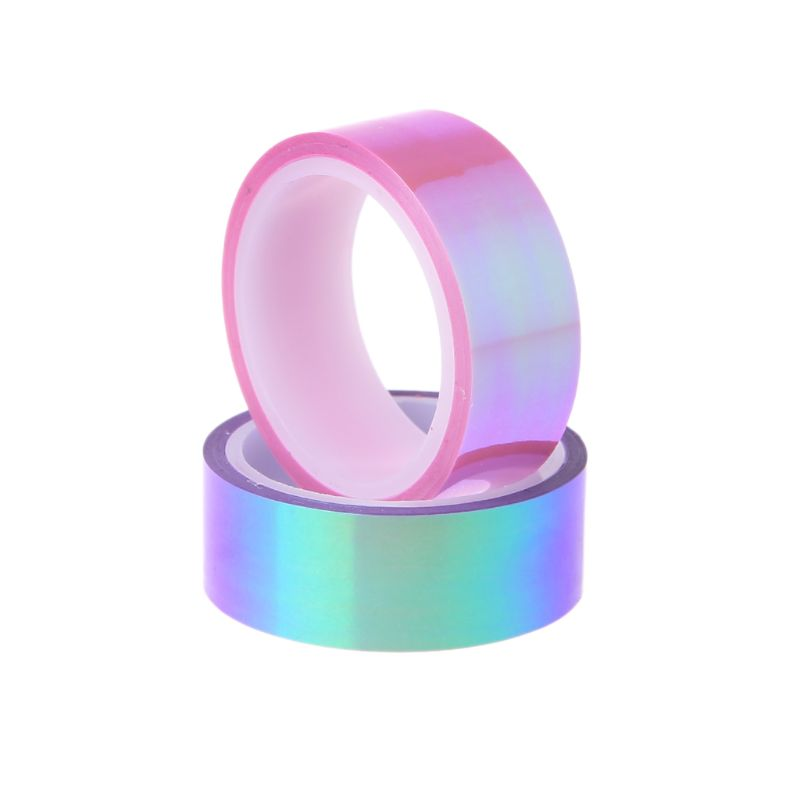 8pcs/set Rhythmic Gymnastics Decoration Holographic Glitter Tape Ring Stick Accessory 15mm*5m Stationery Decorative DIY Masking