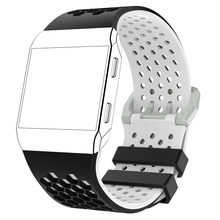 MASiKEN Double Color Wristband Strap for Fitbit Ionic Silicone Sports Fitness Activity Tracker Smart Watch Wrist Band Strap Belt
