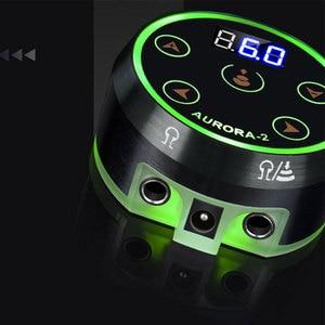 Image 4 - オーロラ 2 タトゥー電源アップグレードデジタル液晶新ミニ led タッチパッド電源タトゥーロータリーマシンペン