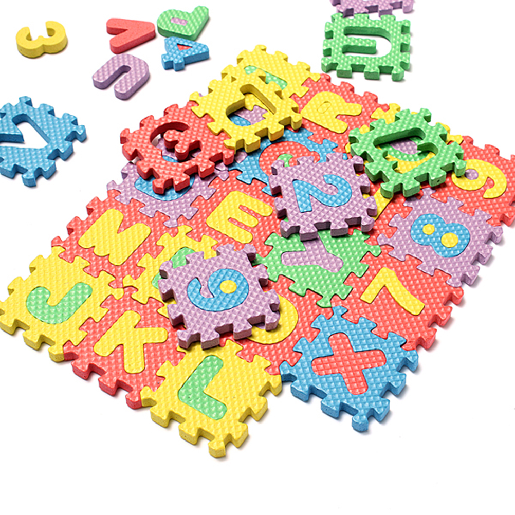 36 Pcs Children Mini Eva Foam Alphabet Letters Numbers