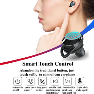 Image 5 - G02 TWS Bluetooth Earphone 5.0 Wireless Bluetooth Earbuds 9D Stereo Music Headset Touch Control LED Display 3300mAh Power Bank