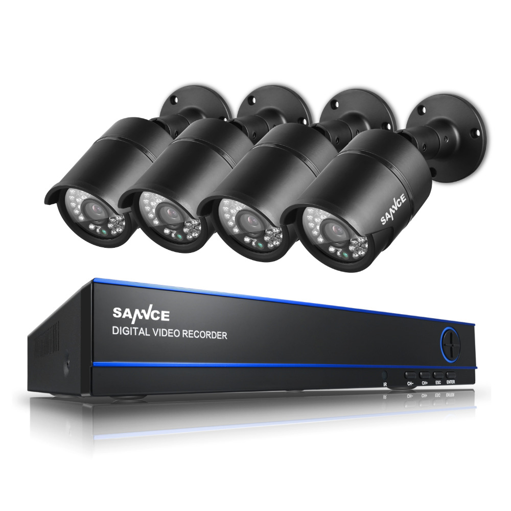 SANNCE Security CCTV System 8CH DVR 4 x 1080P Cameras 2 0MP IR Day Night Kit