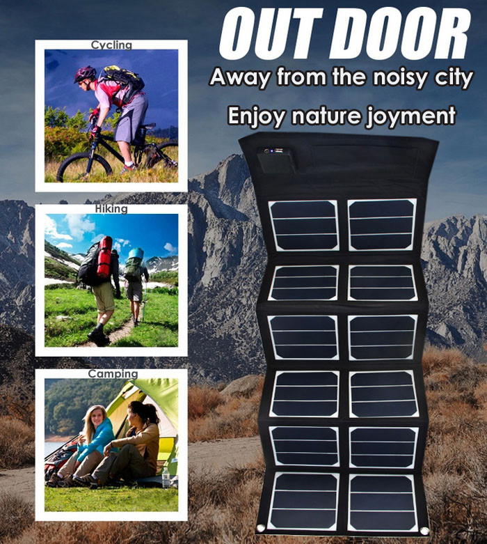 Outdoor solar panel charger