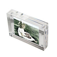 2.17x3.15 inch Mini Clear Acrylic Magnet Photo Frame, Double Sided Picture Frame PF003-3(China)