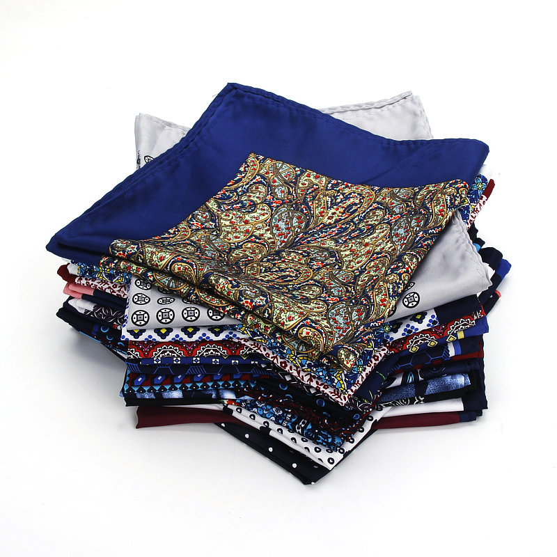2019 Brand New 32 X 32 CM Large Handkerchief Man Paisley Flower Dot Pocket Square Men Fashion Casual Hankies For Men's Suits