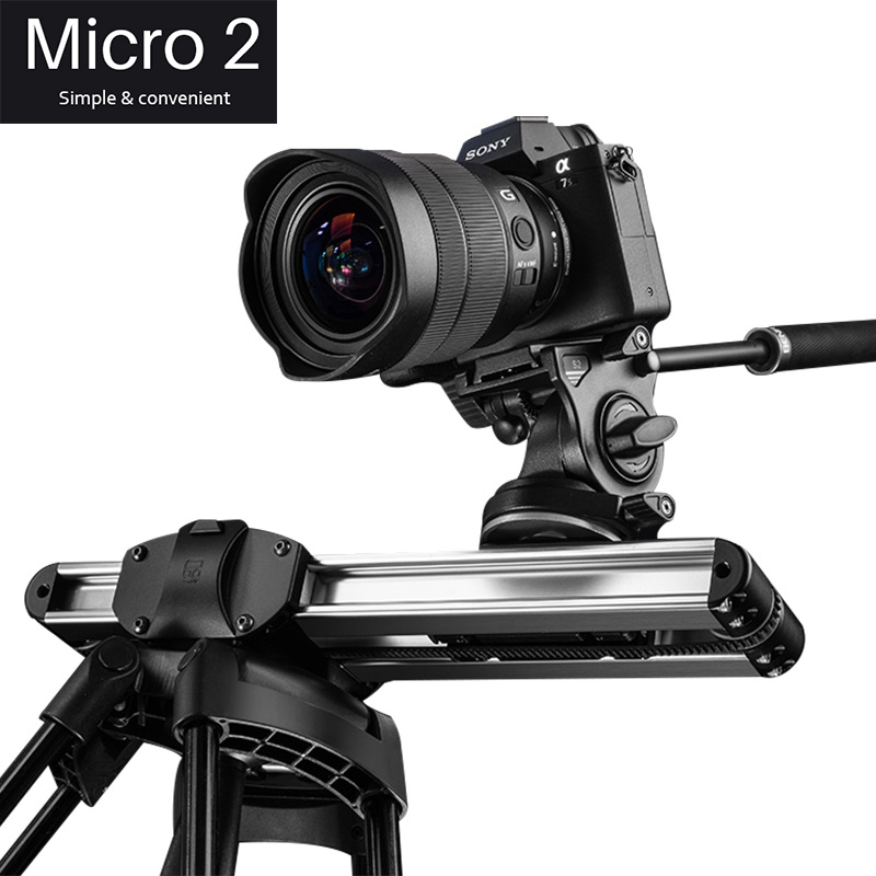 Micro2 12in/33cm Mini Camera Track Slider Dolly Follow Focus Rail for DSLR Camera DV Smart Phone Movie Film Video Making Slider