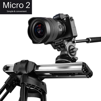 Micro2 12in/33cm Mini Camera Track Slider Dolly Follow Focus Rail for DSLR Camera DV Smart Phone Movie Film Video Making Slider