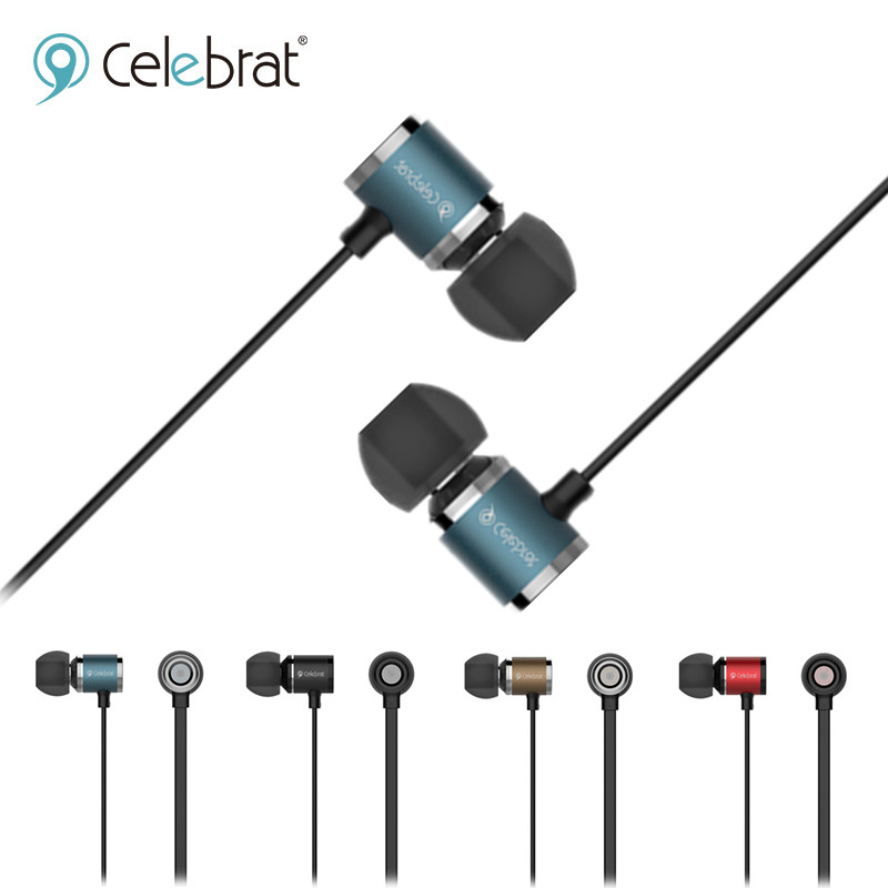 Celebrat 6S Metal Earphones Bass Stereo Headset Sport Headphones with Microphone for iPhone 5s 6 6s Xiaomi Samsung Huawei