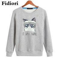 Fidiori Long Sleeve Hoodies Sweatshirt Cotton Round Collar Cool Casual Comfortable Sweatshirts