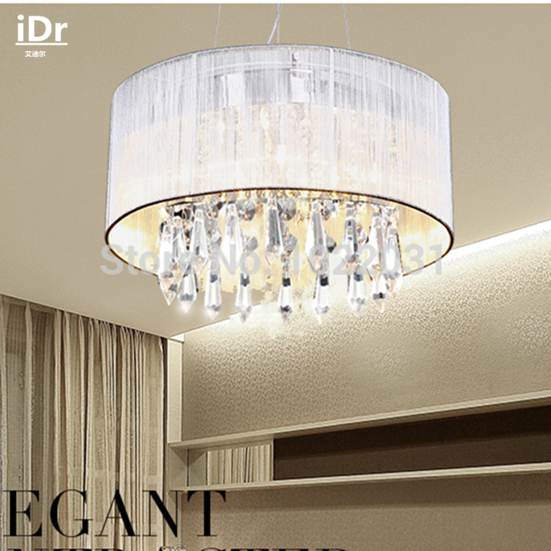 300mm Diameter Wholesale Aisle Study Bedroom Living Room Dining Crystal  Lamp Modern Crystal Chandelier Energy