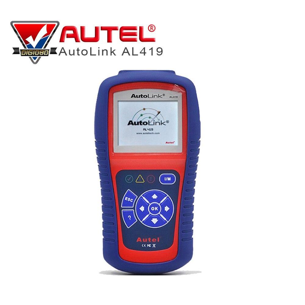 Цена за 100% оригинал Autel Автоссылка AL419 OBDII может сканировать инструмент с TFT Цвет Экран код читателя AL-419 с советы по устранению неполадок код